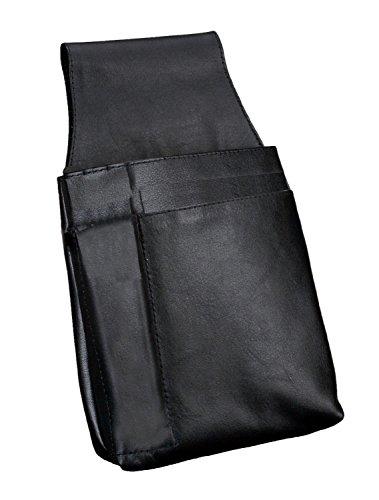 Alassio 42079 Heuptas voor kelnerportefeuilles, van hoogwaardig nappaleder, ca. 22 x 15 x 4 cm, zwart