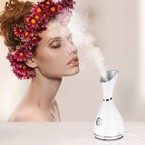 NOLLY Vapeur Visage Vaporisateur,Nano Ionic Facial Steamer,Facial Steamer Spa Professional Face Sauna with Hot Mist Moisturizing Sprayer, Moisturizing Cleansing Pores,EUplug