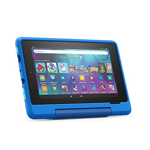 Fire 7 Kids Pro-Tablet   Ab dem Grundschulalter   17,8 cm großer Bildschirm (7 Zoll), 16 GB, kindgerechte Hülle in Himmelblau