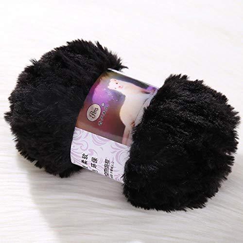 ASDAF 50 g de Hilo para Crochet Hijo bebé suéter de Cachemira Abrigo de Lana Larga de la Piel de Mohair a Mano sobre la Ropa mullida Piel de visón,9
