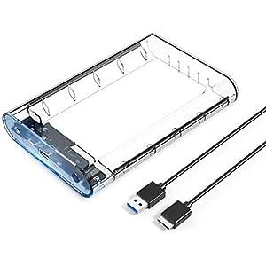 Hillrong - Carcasa Externa para Disco Duro (6,35 cm, USB 2.0 ...