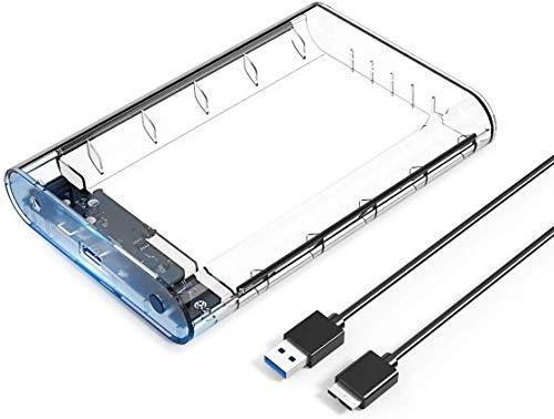 ORICO Case Esterno per Hard Disk 3,5 / 2,5 '', USB 3.0 per SATA HDD SSD Fino a 8TB, UASP, Compatibile con WD, Toshiba, Seagate, Samsung, Hitachi ECC.