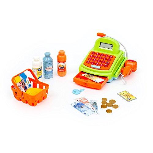 Funnytoy Caso Superfunny supermercado, caja registradora con luces, sonidos, escáner, micrófono, Calculadora y accesorios para el gasto (Mamatoy MMA07000) , color/modelo surtido