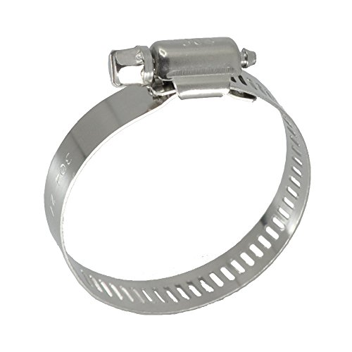 XRPAOWA Hose Clamp, 304 Stainless Steel Clamps, 10 pcs Pack, SAE 28 Worm Gear Hose Clamps, 1-5 16 Inch-2-1 4 Inch (33-57mm)