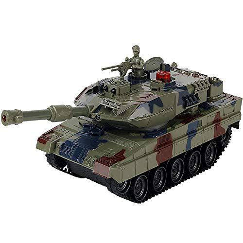 EnweKapu Tanque Panzer, 2.4ghz Modelo De Tanque,Barril De 30 Grados Ajustable,Torreta Giratoria De 330 ° Efectos De Luz,Simulated Battle,Adecuadas para NiñOs