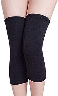 SIKANDER-Unisex Woollen Elastic Knee Leg Support Warm & Winter Protector Knee Cap/Knee Jacket (Black)
