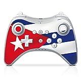 DeinDesign Skin kompatibel mit Nintendo Wii U Pro Controller Folie Sticker Flagge Kuba Flaggen