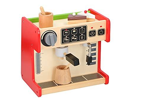 Marionette Wooden Toys kuchnia dziecięca z witryną i ekspresem do kawy - zestaw drewniany - 2 w 1