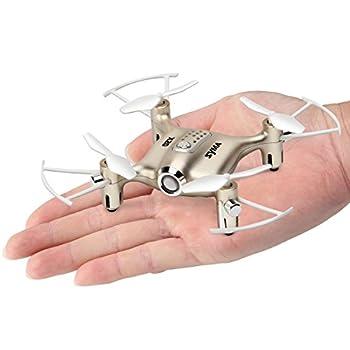 Newest Syma X20 Mini Pocket Drone Headless Mode 2.4Ghz Nano LED RC Quadcopter Altitude Hold Gold