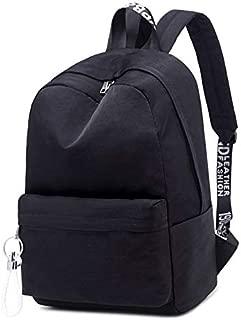 HMJZLyy Girls's Backpack Waterproof High School Students Schoolbag (Color : Black)