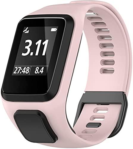 Classicase Repuesto de Correa de Reloj de Silicona Compatible con Tomtom Spark/Spark 3 / Runner 2 / Runner 3 / Golfer 2 / Adventurer, Caucho Fácil de Abrochar para Relojes y Smartwatch (Pattern 5)