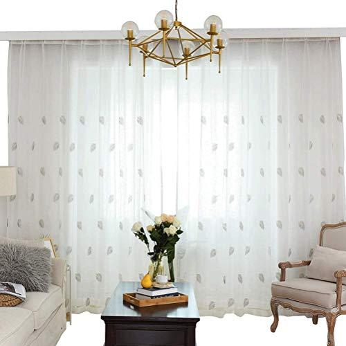RR & LL gordijnen eenvoudige moderne stijl gaze balkon verker schaduw scheidingswand gaas decoratief gordijn wit garen (grootte: breedte 300 hoogte 270 cm (gordijn))