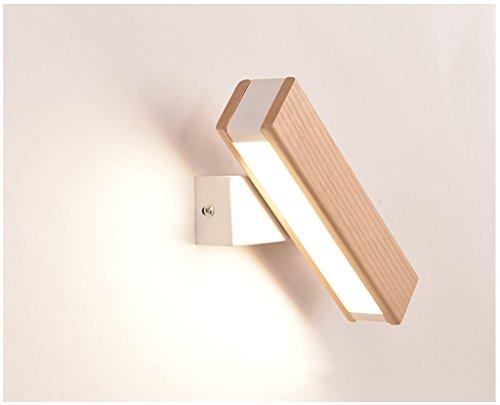 XinQing-Lámparas de Pared Lámpara de Pared de Madera Maciza de Estilo nórdico Lámpara de cabecera de Dormitorio Lámpara giratoria de luz de LED de Pared Creativa Moderna (Color : B)