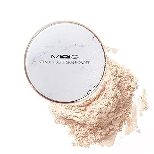 Polvos Translucido Maquillaje, Polvos Sueltos Con Acabado Radiante, Fórmula Ligera, Efecto de Enfoque Suave, Loose Powder Mate, 8g (Natural)