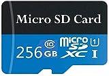 scheda micro sd ad alta velocità da 256 gb progettata per smartphone android, tablet classe 10 sdxc scheda di memoria con adattatore (256 gb-b)