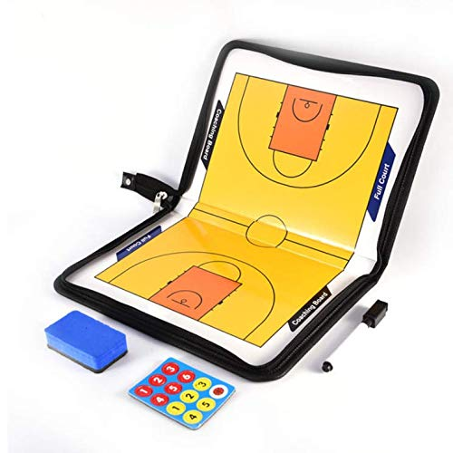 Best Buy! LIJIANGUO Professional Basketball Coaching Board Coaches Clipboard Dry Erase w/Marker Doub...