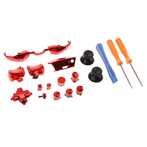 gazechimp Kit De Reparo De Botões De Gatilho De Conjunto Completo Para Xbox One Controller 3,5 Mm Jack Elite - Vermelho