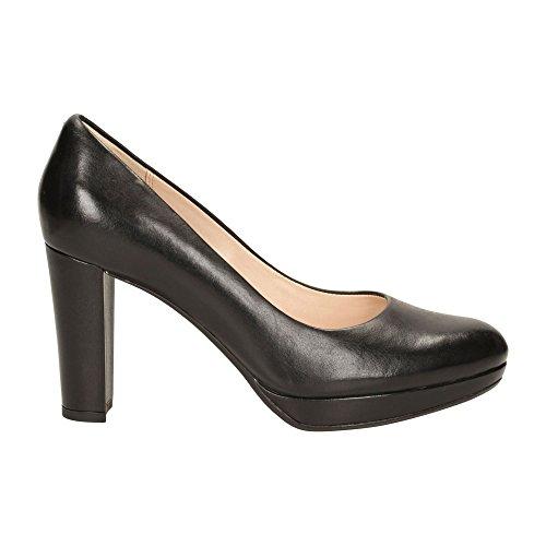 Clarks Damen Kendra Sienna Pumps, Schwarz (Black Leather), 39 EU