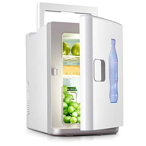 DSMGLRBGZ Nevera Pequeña, Mini Nevera Congelador Pequeño 10L 220V AC 12V DC Mini Coche Refrigerador para Enfriarse Familia Oficina Congelador Verano con Mango