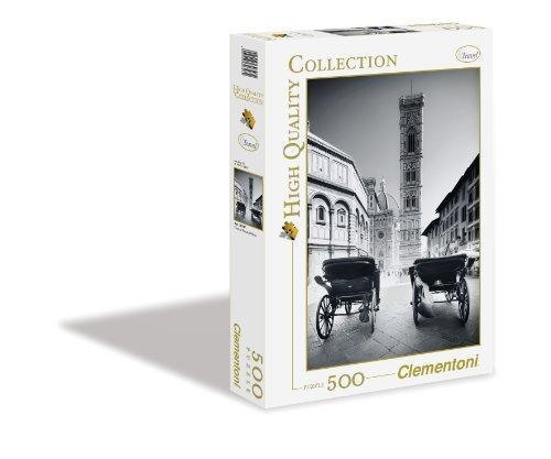 Clementoni - 30347 - Puzzle Collezione Firenze, Bianco e Nero, 500 Pezzi