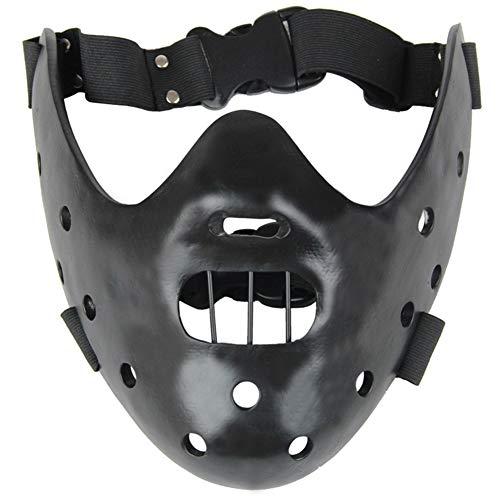Unbekannt Das Schweigen der Lämmer Hannibal Lecter Harz Masken Maskerade Halloween Party Requisiten Halbe Gesichtsmaske,C