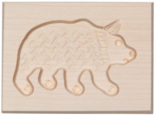 HOFMEISTER® Spekulatius Spiced Biscuit Mould, 1 Picture Running Bear Made from Maple Wood