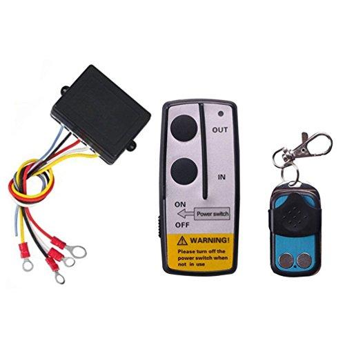 Qiorange Funkfernbedienung Wireless Elektrische Seilwinde Fernbedienung Controller 12V für LKW Jeep SUV-ATV 3 Stück (1 Set)
