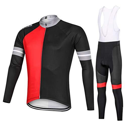 Geheime nacht Lente en Herfst Ronde hals Lange mouwen Sportkleding Set Comfortabele Ademende Mountainbike Kleding
