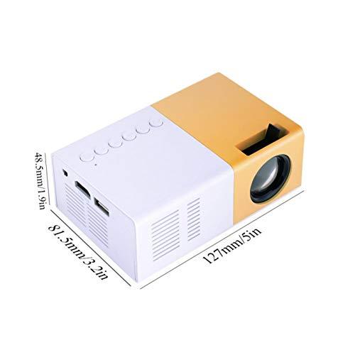 CHICIRIS Home Theatre, práctico Mini proyector de tamaño pequeño, para Viajes y Camping(European Standard (110V-240V), Transl)