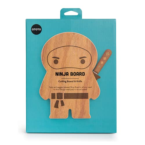 NEW!!! OTOTO - Ninja Board - Small Wood Cutting Board and...