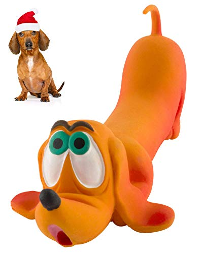 Dachshund - Soft, Squeaky Dog Toy - 100% Natural Rubber (Latex) – Dachshund Gift - for Small Dogs & Medium Dogs - Puppy Toy - Complies with Same Safety Standards as Children's Toys