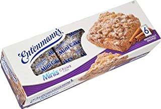 Entenmann's Mini Crumb Cakes Delicious 6ct Individually wrapped Snack 2 Boxes |