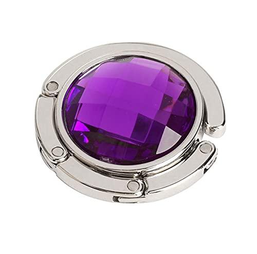 Gancho portátil para bolso de mano plegable de metal, ganchos para colgar llaves en la pared para el baño organizador de cocina (color: púrpura)