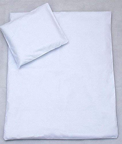 2 Piece Bedding Set 135x100cm Duvet Cover & Pillowcase for Toddler Cot Bed (White)