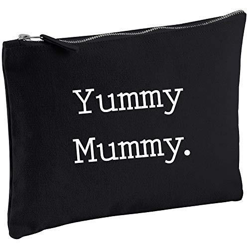 Yummy Mummy negro lona Make up bolsa regalo Idea cosméticos bolsa de...