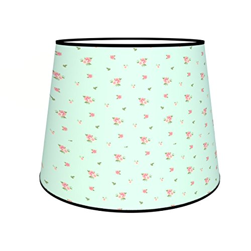 Abat-jours 7111303099035 Conique Imprimé Jeanne Lampadaire, Tissus/PVC, Multicolore