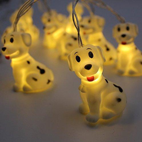 UChic Guirlande lumineuse décorative 10 LED pour intérieur et extérieur, motif animal mignon, fonctionne avec piles, pour fête, cour, jardin, chambre à coucher, salon, dortoir