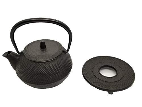 岩鋳 Iwachu 鉄瓶兼用急須 3型新アラレセット 黒焼付 0.32L ホーロー無し 直火可 南部鉄器 16105