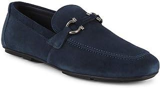 حذاء رجالي بدون كعب من جلد الغزال Nowell 3 BUC من SALVATRE FERRAGAMO أزرق داكن