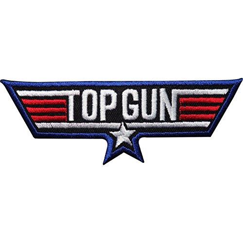 Top Gun bestickter Aufnäher zum Aufbügeln, für Kostüme, Jacke, T-Shirt