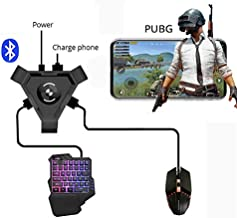 LFJNET (Upgraded Version) PUBG Mobile Gamepad Controller Gaming Keyboard Mouse Converter for Android Phone to PC Bluetooth Adapter Converter