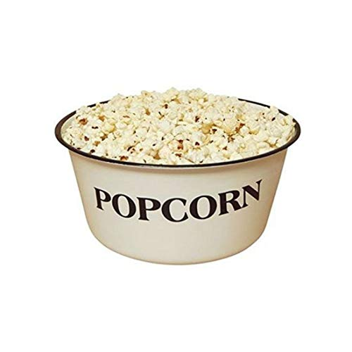 Popcorn Bowl, GSL82, Vintage, White, Retro Styled REPRODUCTION of old-time bowl with old-time Blemishes and Distressed Touches throughout