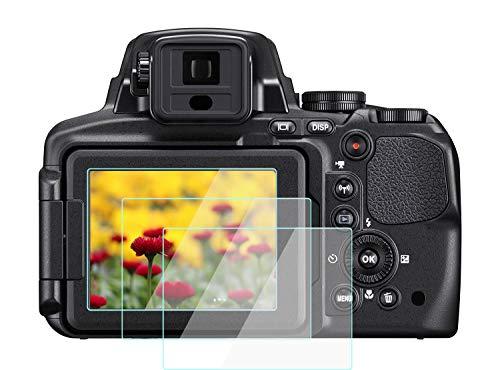 KOMET P900 - Protector de pantalla para Nikon COOLPIX P900 P900S P600 P600S (2 unidades)