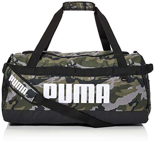 PUMA Kids Challenger Duffel Bag M Medium, Forest Night-Camo AOP, OSFA