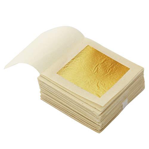KINNO Pan de Oro Comestible de 24k 30,hojas 4.33x4.33cm para Decoración Pasteles, Chocolates, Salud y Spa