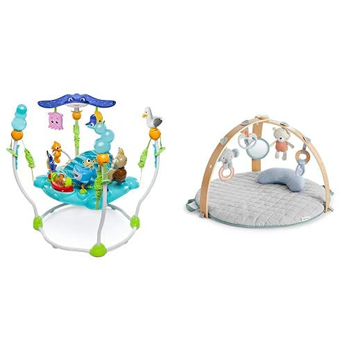 Bright Starts Disney Baby Saltador y Centro de actividades Buscando a Nemo con más de 13 juguetes + Ingenuity Gimnasio de actividades