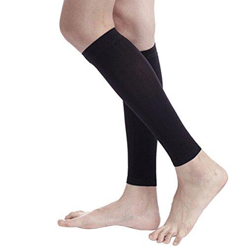 Calcetines de compresión de rodilla, pierna alta, manga de pantorrilla 30-40 mmHg para mujeres varices venas, L