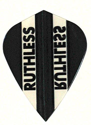 US Darts 3 Sets (9 Flights) Xtra Strong Ruthless Black Kite Shape Flights