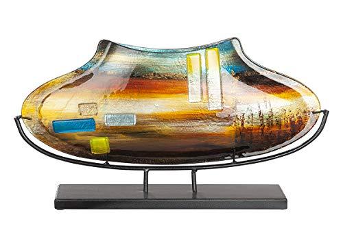 GILDE GLAS art Vase mit Ständer - Geschenk für Frauen - Geburtstag - H 29 cm