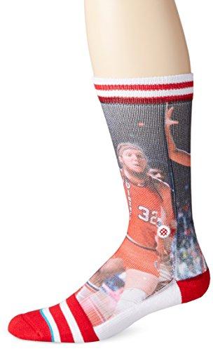 Stance Men's Bill Walton Crew Sock, Red, Sock Size:10-13/Shoe Size:...